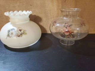lot of 2 Oil lamp Shades