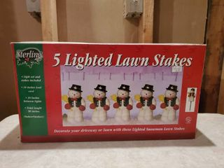 5 lighted lawn Stakes