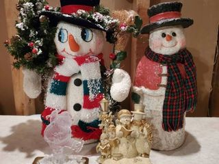 lot of 4 Snowman Decorations