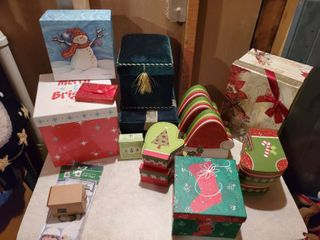 lot of Decorative Christmas Boxes