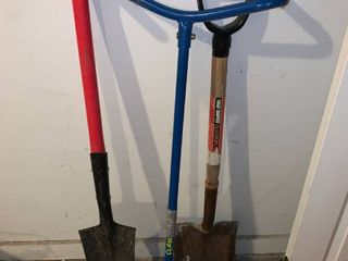 Two Shovels and a Garden Claw location Garage