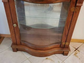 Miniature Doll Curved Glass Cupboard