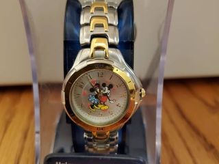 Mickey and Minnie Mouse 2 Toned Watch  NIB