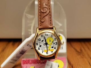 Musical Tweety Bird leather Strapped Watch