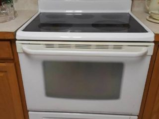 White Frigidaire Electric Stove