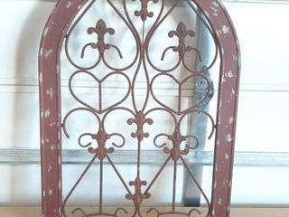 Metal in Wood Frame Wall Decor