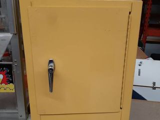 Yellow Chemical Cabinet   No Key