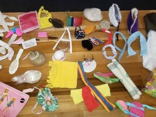 Assortment of Vintage Barbie Accessories