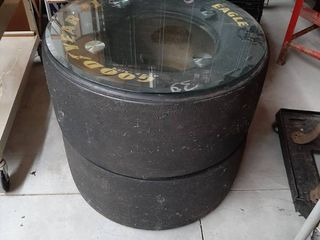 2 Nascar Tires with Glasstop