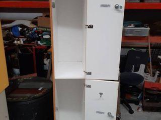Wood locker Cabinet   No Key