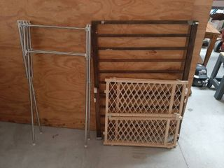 2 Pet Gates and Expanding Drying Rack