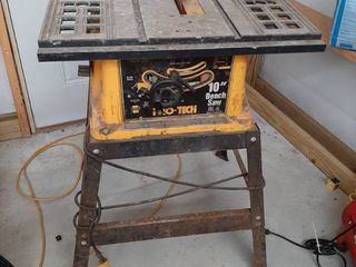 Pro Tech 10  Bench Saw on Stand   Dirty but Works