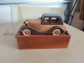 Wood Car with Storage Box