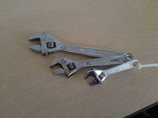 3 Adjustable Wrenches   4  6  and 8