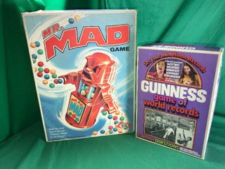 Vintage Mr  Mad Game 1970   Vintage Guinness Game of World Records 1975