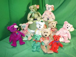 large lot of Beanie Babies   All Bears