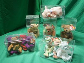 Misc Beanie Babies in Plastic Cubes