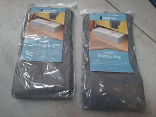 2  Underbed Storage Bag 18x42x8 Inch Breathable Clear Top