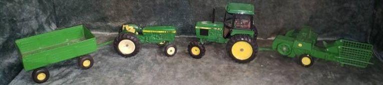 Ertl John Deer Tractors  Trailer  Baler