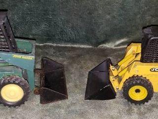 2 Ertl John Deere Skid loaders