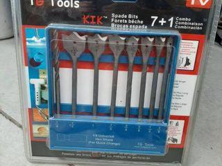 TG Tools 7 1 piece KIK Spade Drill Bit Set