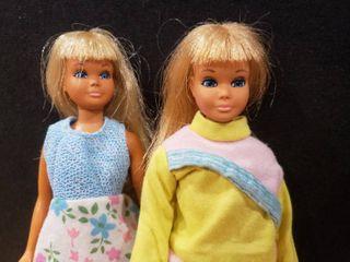 Two 1971 72 Malibu Skipper Dolls