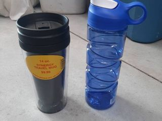 14 Oz Insulated Travel Mug and 18 Oz Sport Bottle