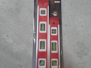 Magnetic 2 Piece Aluminum Torpedo level Set   9 Inch   12  levels