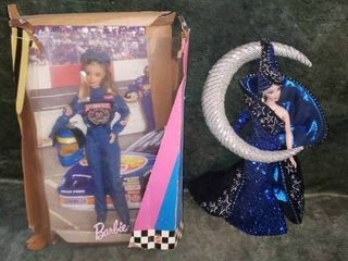 Collectible Barbies   Bob Mackie Moon Goddess   Nascar 50th Anniversary