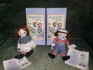 Applause Raggedy Ann   Andy  2 Pair  All New