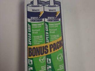 4 Pack White lightning Construction Adhesive