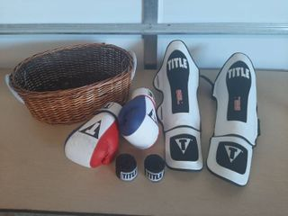 Basket with Title Boxing Equipment