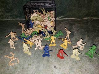 Assortment of Plastic Toy Figures