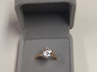 Ring with Round Stone in Box
