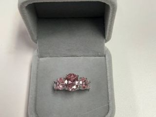 Ring with Pink Stones in Box