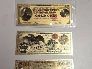 3  Gold Banknotes