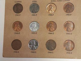War Time Cent Set