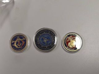 3  Challenge Coins