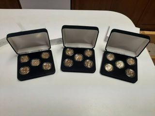 3  Gold Plated State Quarters Collections   2006 D  2007 P  2008 P
