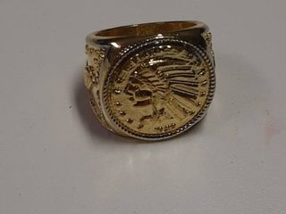 Ring with Indian Head