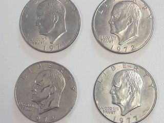 4  Eisenhower Dollars   1971  1972 D  1974  1977 D