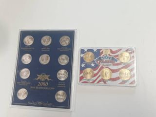 2  2000 State Quarters Collections   1 is Gold Plated