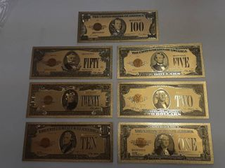 7  Gold Banknotes