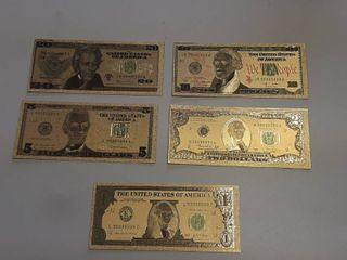 5  Gold Banknotes