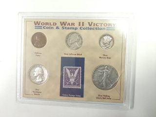 WWII Victory Coin   Stamp Collection