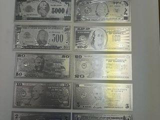 12  Silver Banknotes