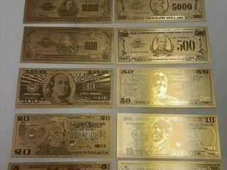 12  Gold Banknotes