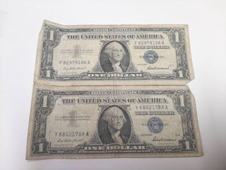 2  Series 1957 Silver Certificates