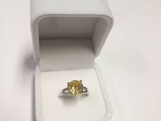 Ring with Yellow Stone in Box