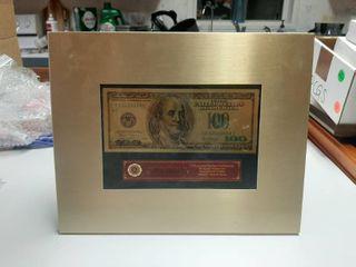 Gold Banknote in Frame